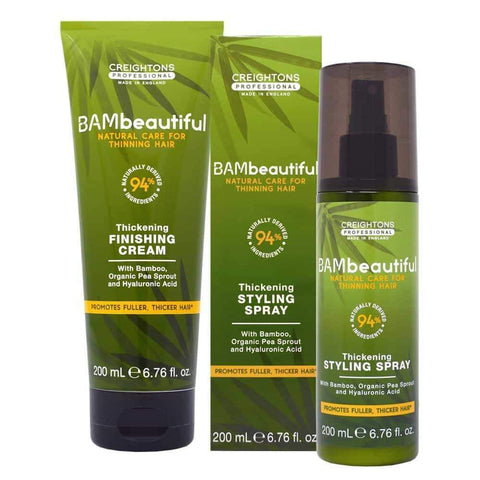 BAMbeautiful Styling Duo, how to thicken hair, hair thickening products that actually work, hair thickening products