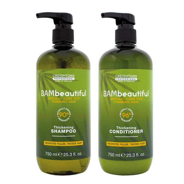 Bambeautiful Supersize Shampoo And Conditioner Duo (2 X 750ml), best hair thickening shampoo, how to thicken hair, hair thickening products that actually work, hair thickening products, hair thickening shampoo