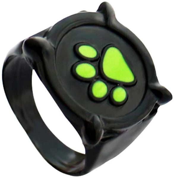 HANRESHE Cat Noir Ring for Kids Size 5-7 Cat Noir Ring Anime Jewelry Black Ring Cat Noir Costume for Kids Ladybug Costume Rings for Women Men Adults Cosplay Accessories - CatsInHeart