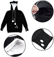 Womens Pet Carrier Shirts Kitten Puppy Holder Animal Pouch Hood Sweatshirt - CatsInHeart