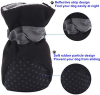 AblePet Dog Cat Boots Soft Shoes Anti-Slip Booties, with Adjustable Strap and Reflective Strip, Premium Paw Protector Only Fit for Small Dog (4Pcs) - CatsInHeart