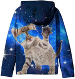 SAYM Teen Boys' Galaxy Fleece Sweatshirts Pocket Pullover Hoodies 4-16Y - CatsInHeart