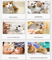 Ifanr Anti-Scratch Cat Shoes, Kitty Grooming Bag, Pet Medical Shoes, Cat Paw Protector for Bathing, Home Barbering, Checking, Treatment in Pet Hospital, 4 Pcs - CatsInHeart