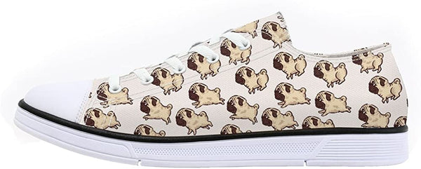 FIRST DANCE Shoes for Women 2019 Spring Shoes Animal Printed Cat Sneakers Shoes for Ladies Low Top Shoes Cute Dog Print Shoes - CatsInHeart
