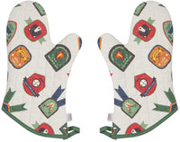 Now Designs Basic Oven Mitts, Set of Two, Cats Meow, 2 Count