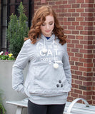 Unisex Hoodies Pet Holder Cat Dog Large Pouch Carriers Pullover with Cat Printing Sweatshirt - CatsInHeart