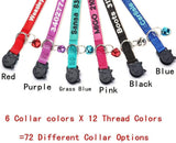 Cat Collar,Personalized Embroidered Nylon Cat ID Collars with Bell - Custom Text with Pet Name and Phone Number …