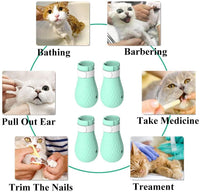 ASOCEA 4 PCS Anti-Scratch Cat Foot Shoes Silicone Pet Grooming Scratching Restraint Booties Kitten Cat Claws Cover for Home Bathing, Shaving Checking Treatment - CatsInHeart