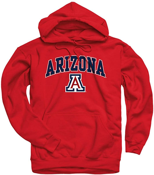 Campus Colors Long Sleeves NCAA Adult Arch & Logo Gameday Unisex Hooded Sweatshirt - CatsInHeart