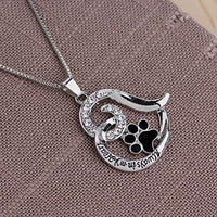 Pet Loss Sympathy Memorial Gift, Always in My Heart Pendant Necklace Jewelry for Loss of Pet Dog Cats Memorial Sympathy Keepsake Gifts for Women Men - CatsInHeart