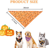 TRAVEL BUS Festival Dog Bandanas, Halloween/Thanksgiving/Christmas Pets Scarf Triangle Bibs Kerchief, Festival Element Pattern Accessories Decoration for Small Medium Large Dogs Cats Pets(3PCS/4PCS)