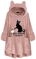 SMSCHHX I Do What I Want Cat Graphic Women Warm Fuzzy Sweatshirt Long Sleeve Pullover Hoodies Tops - CatsInHeart