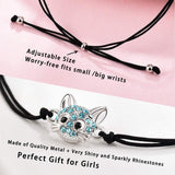 Lanqueen Cute Kitty Cat Bracelet Adjustable Handmade Jewelry for Daughter Girls Cat Lovers Birthday Gift - CatsInHeart