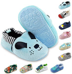 Baby Boys Girls Slippers Non Skid Rubber Sole Baby Walking Shoes Cartoon Infant Sneaker Toddler House Shoes for Baby Girls(6-24 Months) - CatsInHeart