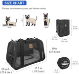 Premium Pet Carrier Airline Approved Soft Sided for Cats and Dogs Portable Cozy Travel Pet Bag, Car Seat Safe Carrier
