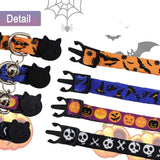 Barleygoo 4PCS Halloween Cat Collar with Bell Soft Adjustable Breakaway for Indoor and Outdoor Cats, Kittens - CatsInHeart