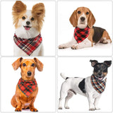 VIPITH 8 Pack Triangle Dog Bandana, Reversible Plaid Painting Bibs Scarf, Washable and Adjustable Kerchief Set for Dogs Cats Pets¡­