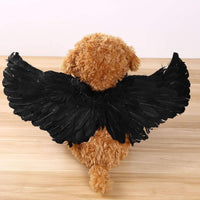 YiZYiF Pet Angel Feather Wings Pet Harness Pet Costume Accessory for Dog Cat Halloween Cosplay Dress Up Pet Supplies
