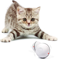 YOFUN Smart Interactive Cat Toy - Newest Version 360 Degree Self Rotating Ball, USB Rechargeable Pet Toy, Build-in Spinning Led Light, Stimulate Hunting Instinct for Your Kitty