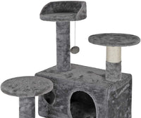 Nova Microdermabrasion Pet Republic 53 Inches Multi-Level Cat Tree Stand House Furniture Kittens Activity Tower with Scratching Posts Kitty Pet Play House
