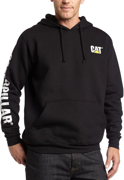 Caterpillar Men's Trademark Banner Hooded Big Tall Sweatshirt - CatsInHeart