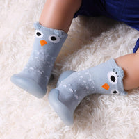 Childrens Kids Toddlers Animal Rubber Sole Non-Skid Indoor Floor Slipper Baby Boy Girls Breathable Cotton Outdoor Shoes Socks - CatsInHeart