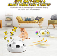 2020 Newest Pop and Play Interactive Cat Toy, Low Noise Robotic Cat Toy with 900mAh Rechargeable Battery&Auto Shut-Off,3 Adjustable Speed, Electronic Cat Toys for Indoor Cats, Includes 4 Accessories - CatsInHeart