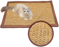 Cat Scratching Mat 100% Natural Sisal Scratcher Horizontal Scratching Carpet Pad Rug Scratch Deterrent Accessories for Cat/Kitty Grinding Claws & Protecting Furnitures Carpets and Sofas
