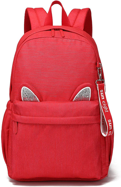 SUN EIGHT Kid's Backpack Cat Ears Cute Casual Daypacks Easy to Clean School Bag Lightweight Purse Boys and Girls… - CatsInHeart
