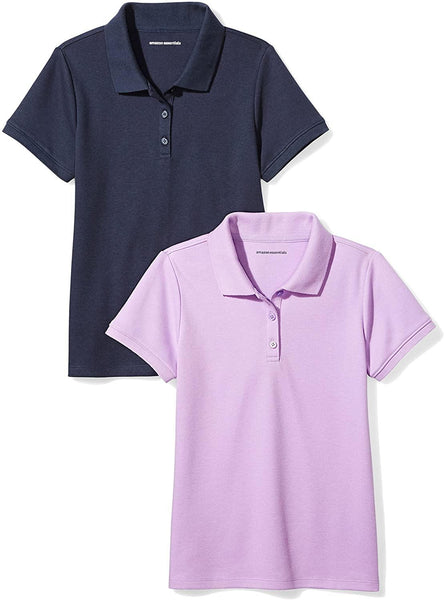 Amazon Essentials Girl's Short-Sleeve Uniform Interlock Polo - CatsInHeart