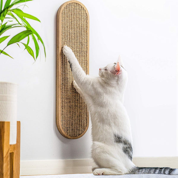 7 Ruby Road Cat Scratching Post for Floor or Wall Mounted Use - Space-Saving, Durable Sisal Board Scratcher for Kitty's Health and Good Behavior, Furniture Scratch Deterrent Accessories for Cats - CatsInHeart