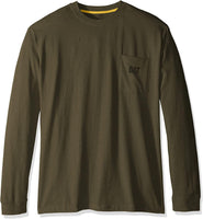 Caterpillar Men's Trademark Pocket Long Sleeve T-Shirt (Regular and Big & Tall Sizes) - CatsInHeart