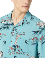 Amazon Brand - 28 Palms Men's Relaxed-Fit Vintage Washed 100% Rayon Tropical Hawaiian Shirt - CatsInHeart