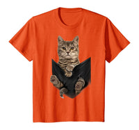 Brown Cat Sits in Pocket T-Shirt Cats Tee Shirt Gifts - CatsInHeart