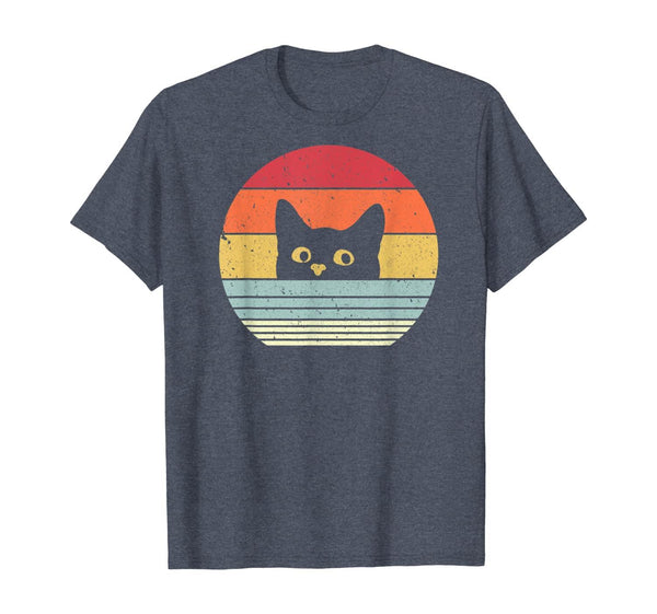 Cat Shirt. Retro Style T-Shirt - CatsInHeart