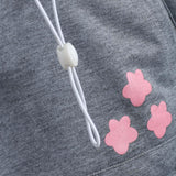 Cat Pouch Hoodie For Lovers Kangaroo Pet Paw Emboridery Pullovers Cuddle Pouch Sweatshirt Pocket Animal Ear Hooded