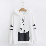 Harajuku Neko Cat Kawaii Hoodie Lolita Junior Cute Ear Hoody Pullover Student Girls