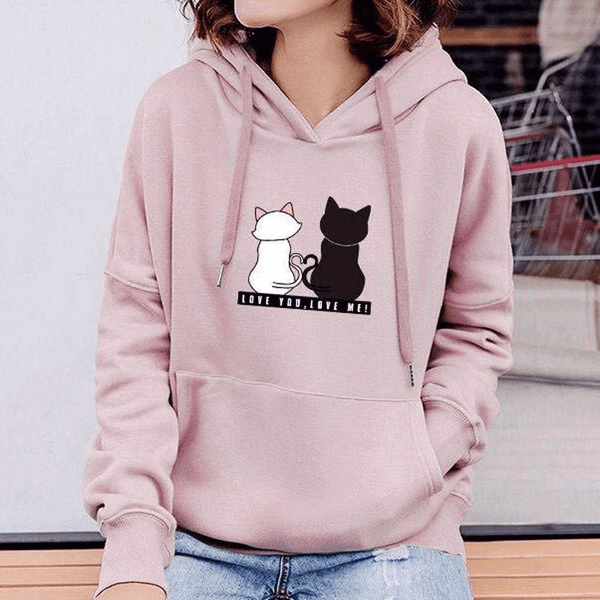 Womens Long Sleeve Hoodie Sweatshirt Marcus And Martinus Casual Hooded