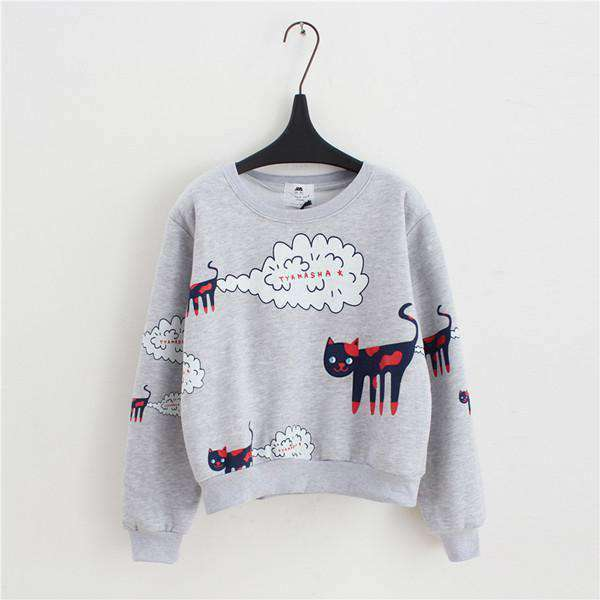 2019 New Spring Autumn Sweatshirt Women - CatsInHeart