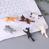 Phone Holder Cute Cat Smartphone Holders Tablets Desk Car Stand Mount Cell Phone Sucker Bracket Accessories
