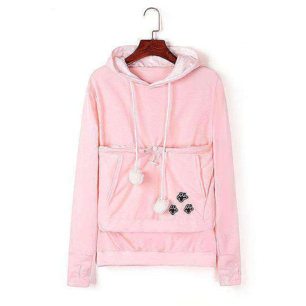 Hoodies Women Pet Hooded Casual Cat Sweatshirt