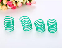 10 pcs Cute Cat Spring Toys Wide Durable Heavy Gauge Plastic Colorful Springs Cat Toy Playing Toys For Kitten Pet Accessories