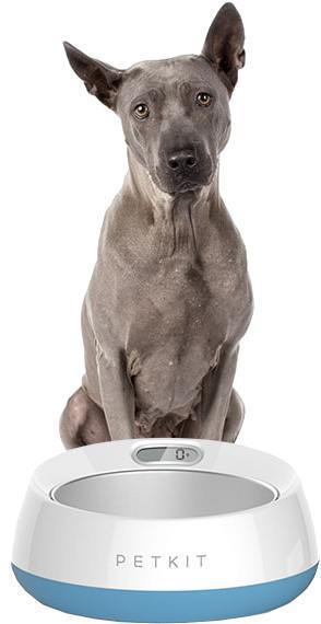 PETKIT ® 'FRESH METAL' Large Anti-Bacterial Machine Washable Smart Food Weight Calculating Digital Scale Pet Cat Dog Bowl Feeder w/ Inlcuded Batteries and Ejectable Stainless Bowl Wood