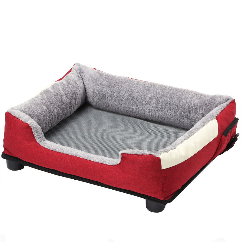 "Pet Life ""Dream Smart"" Electronic Heating and Cooling Smart Dog Bed Medium Gray"