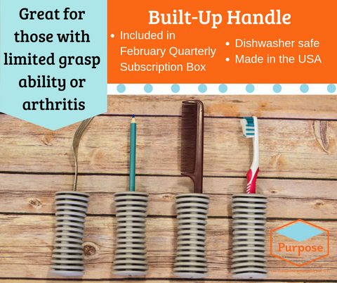 Purpose The Therapeutic Subscription Box LLC, Fine Motor February Universal Built Up Handle