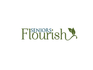 Seniors Flourish Logo from podcast with Purpose The Therapeutic Subscription Box, LLC