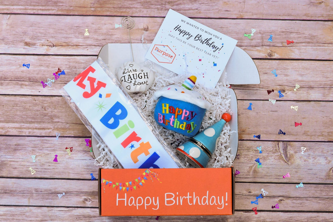 Purpose Therapy Box: Birthday Box for seniors to celebrate their special day