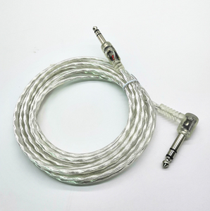 11 ft Silver Clear Dual Trigger Cable for Roland Yamaha Alesis Drum