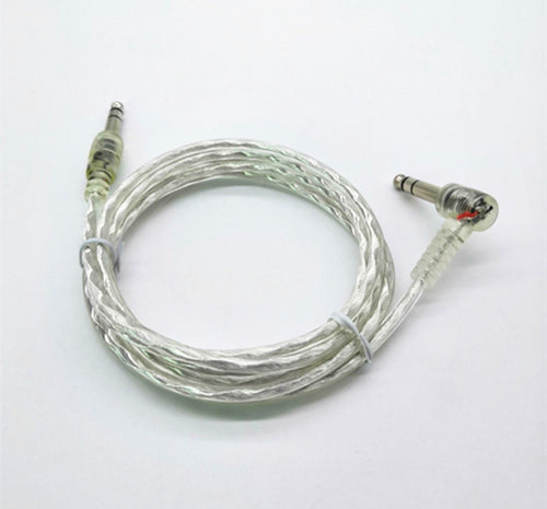 6ft Silver Clear Transparent Dual Trigger Cable for Roland Yamaha Alesis Drum