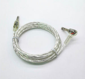 6ft Silver Clear Dual Trigger Cable for Roland Yamaha Alesis Drum
